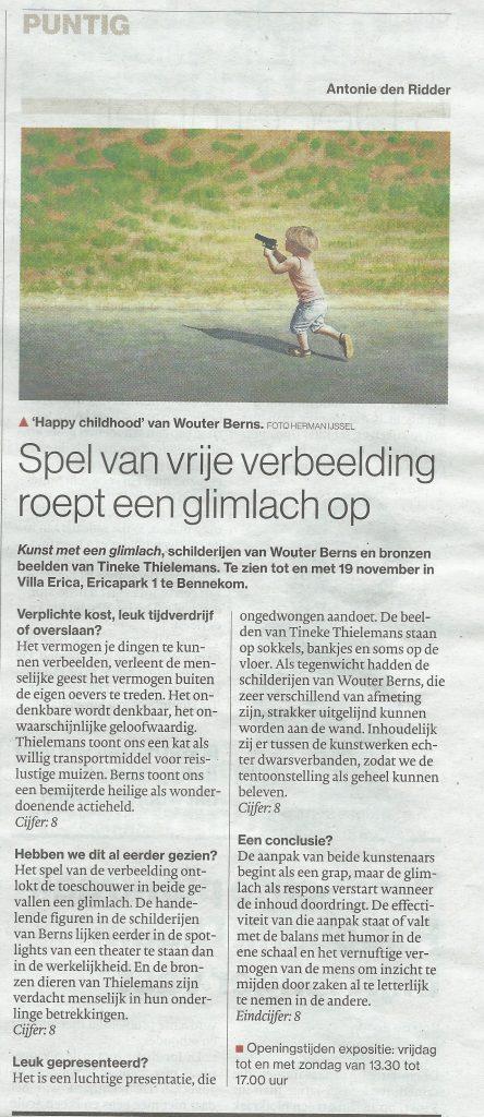 Recensie Tineke Thielemans De Gelderlander